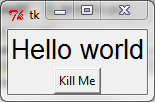 tkinter hello world