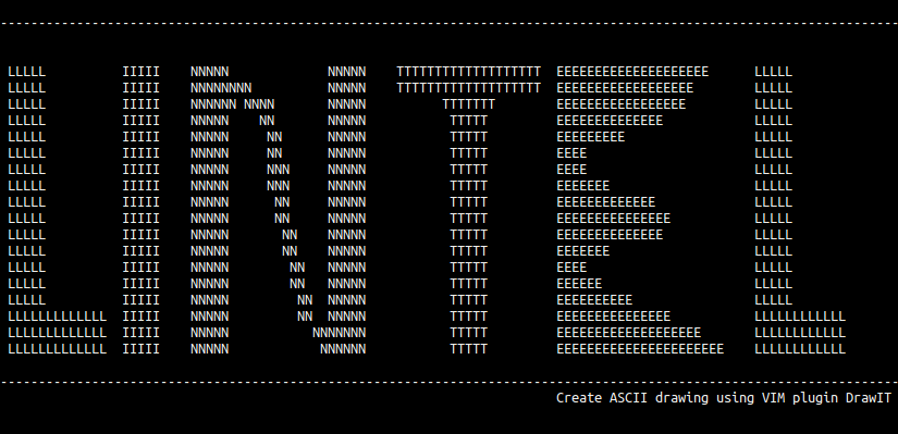 ASCII art using VIM plugin drawit